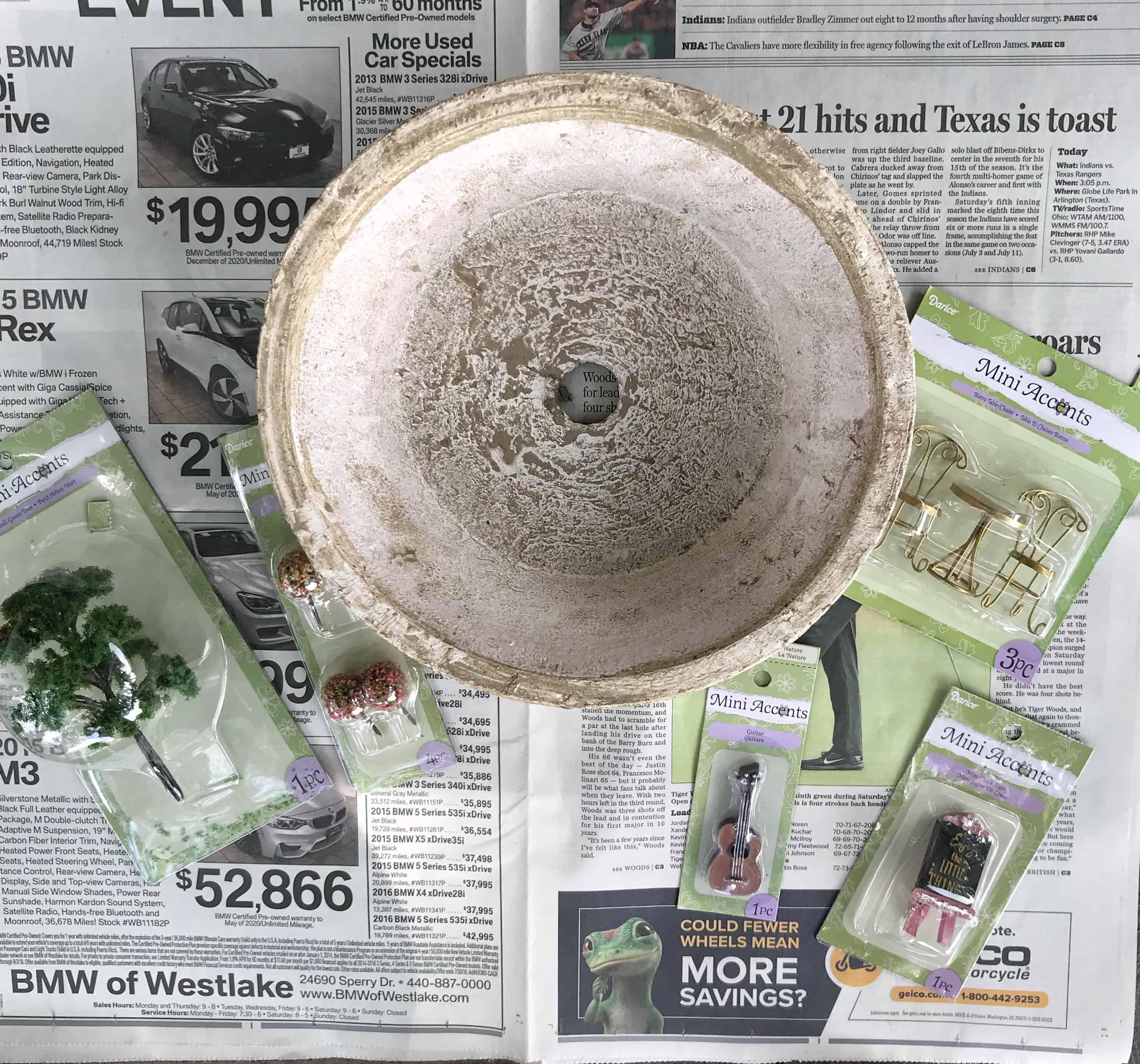 DIY Small Fairy Garden in a Pot - Coffee, Pancakes & Dreams