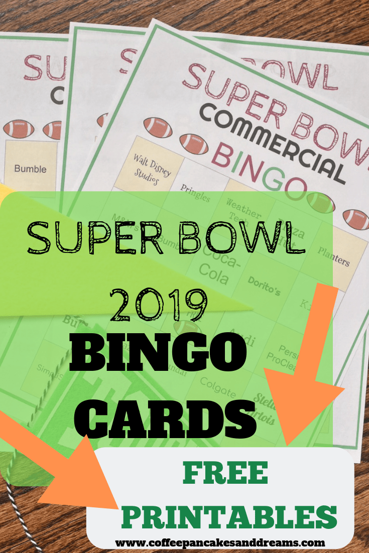 photo regarding Printable Super Bowl Bingo Cards called Tremendous Bowl 2019 BINGO Playing cards Absolutely free Printable - Espresso
