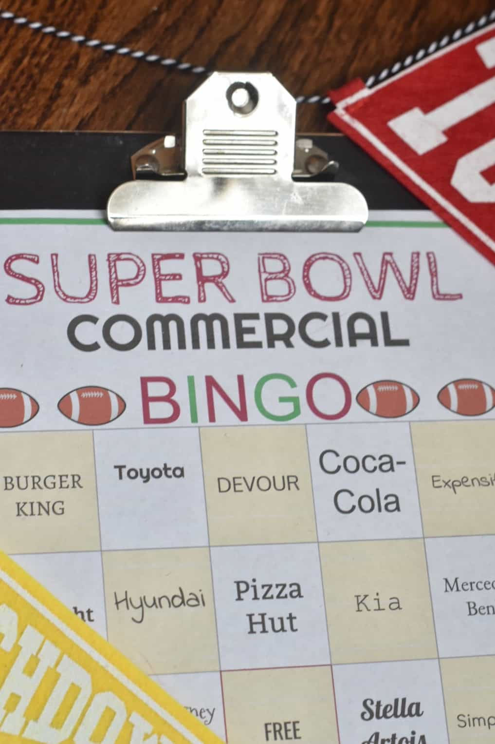 photo relating to Printable Super Bowl Bingo Cards named Tremendous Bowl 2019 BINGO Playing cards No cost Printable - Espresso