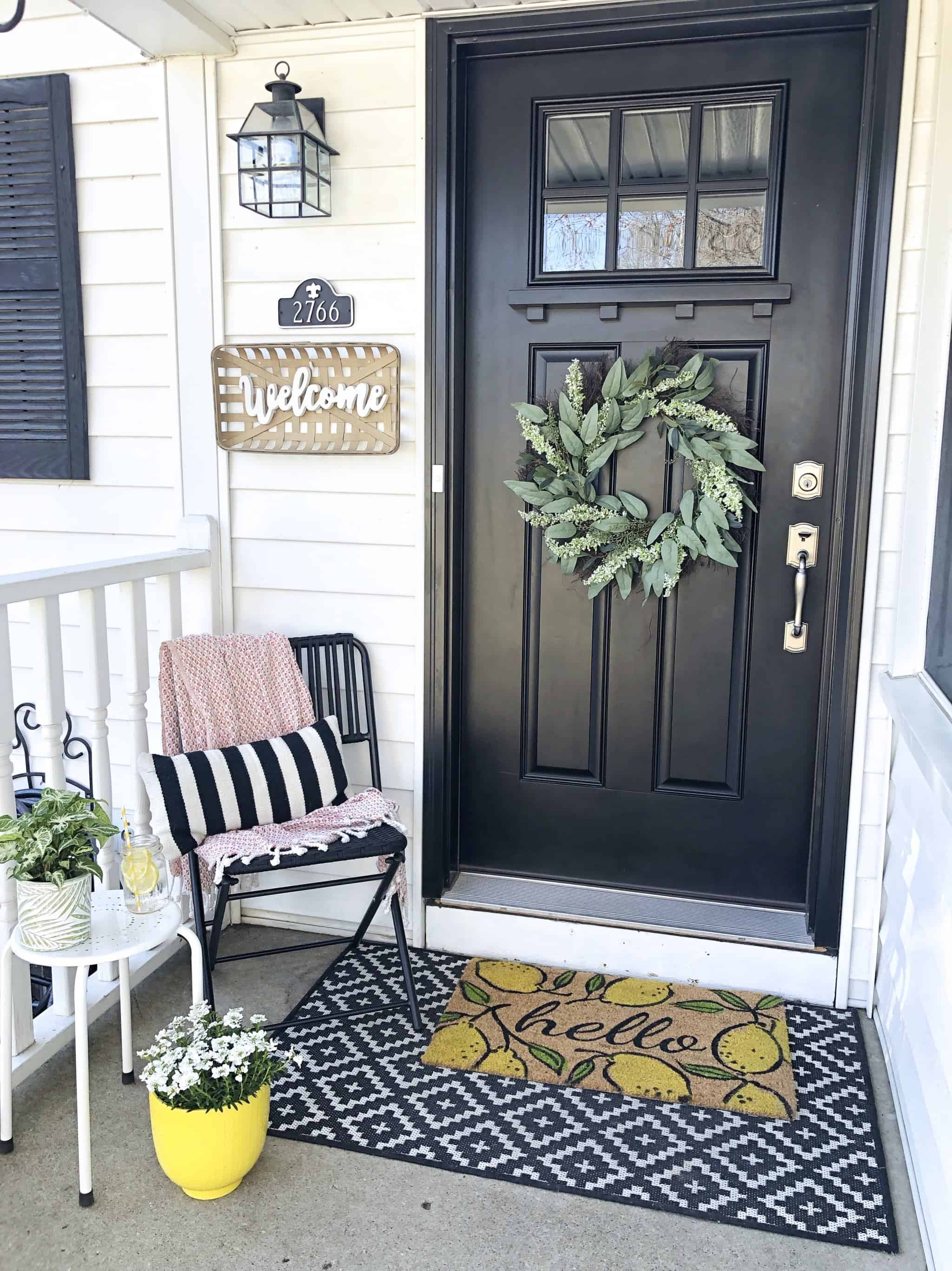 Spring Small Front Porch Decor: 7 Budget Friendly Decorating ...