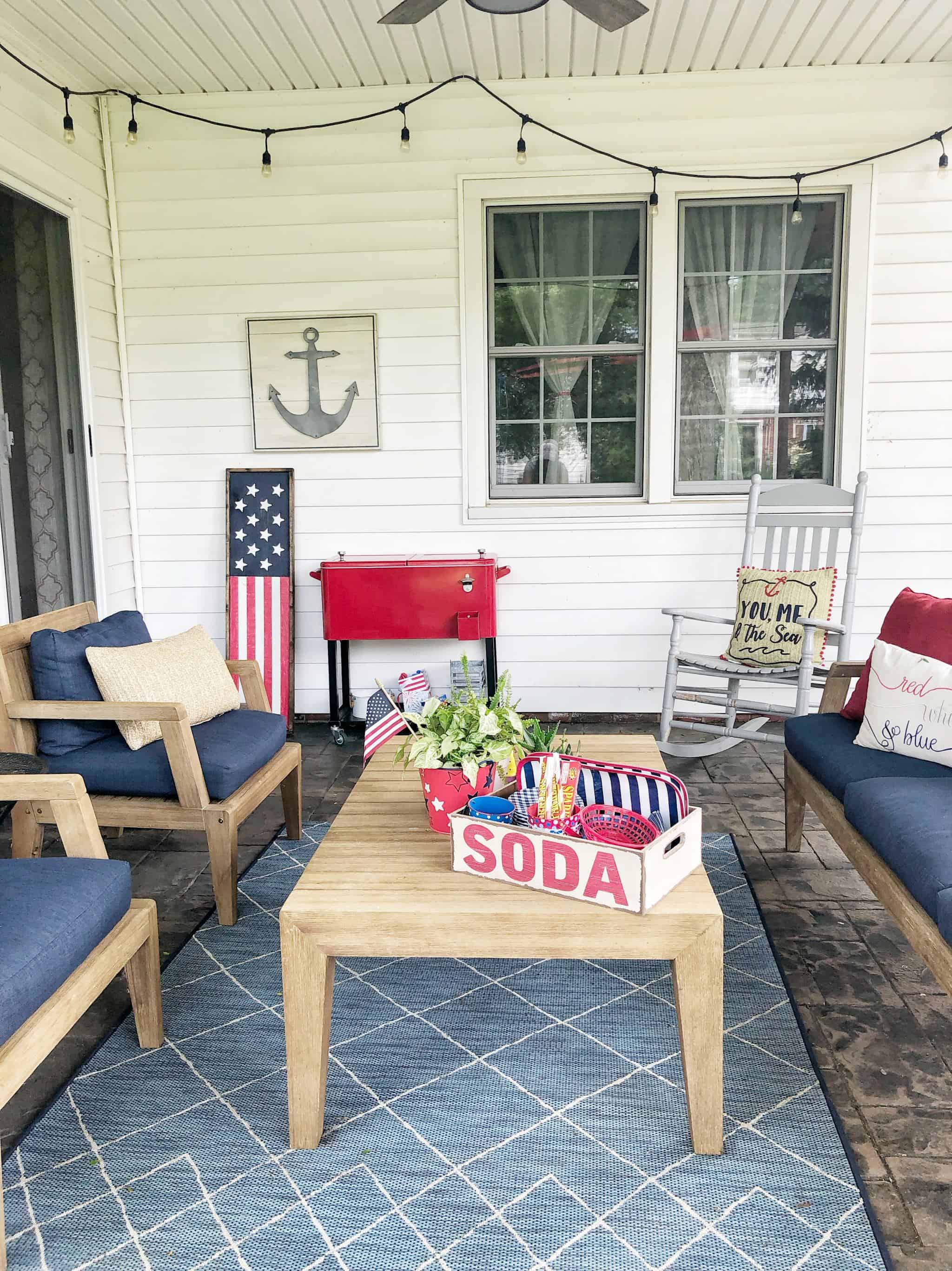 Fourth Of July Decor Inspiration Coffee Pancakes Dreams