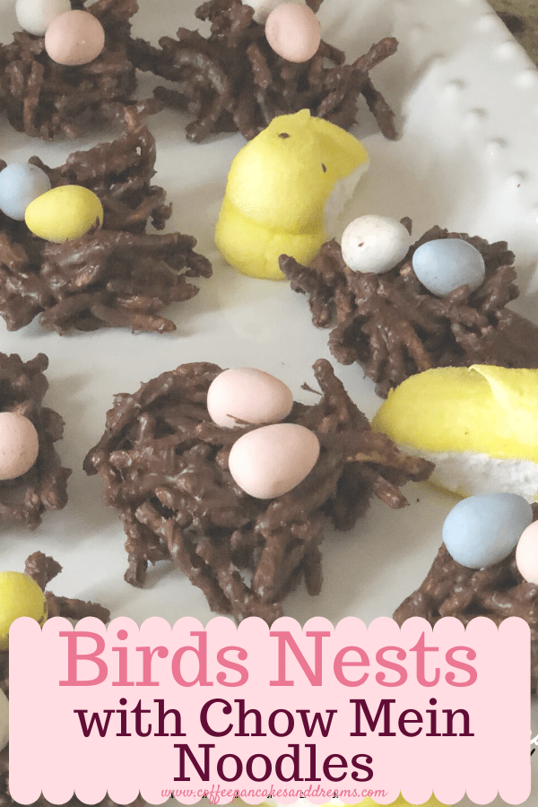 birds nests with chow mein noodles - coffee, pancakes & dreams